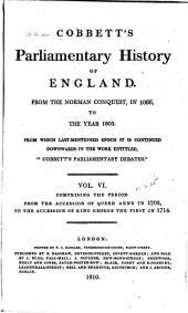 Cobbett's Parliamentary History of England: Volume 6