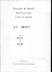 Records and Briefs New York State Court of Appeals