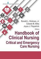 Handbook of Clinical Nursing  Critical and Emergency Care Nursing PDF