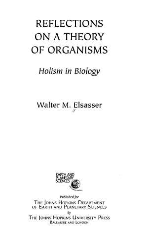 Reflections on a Theory of Organisms