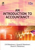 An Introduction to Accountancy  12th Edition PDF