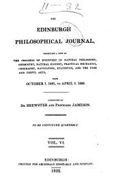 The Edinburgh Philosophical Journal: Volume 6