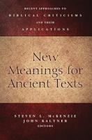 New Meanings for Ancient Texts PDF