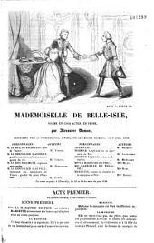 Mademoiselle de Belle-Isle: drame en cinq actes, en prose
