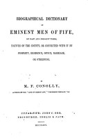 Biographical Dictionary of Eminent Men of Fife PDF