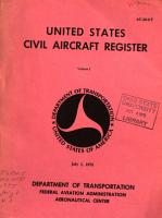 United States Civil Aircraft Register PDF