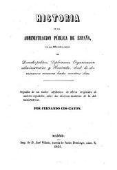 Historia de la administracion pública de España