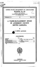 A Farm-management Study in Anderson County, South Carolina