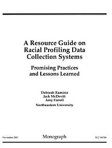 A Resource Guide on Racial Profiling Data Collection Systems PDF