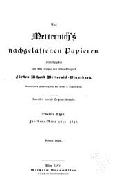 Aus Metternich's nachgelassenen papieren: Band 5