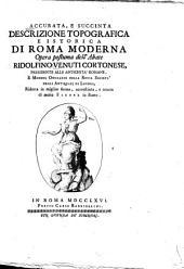 Accurata, e succinta descrizione topografica e istorica di Roma moderna: Volume 2