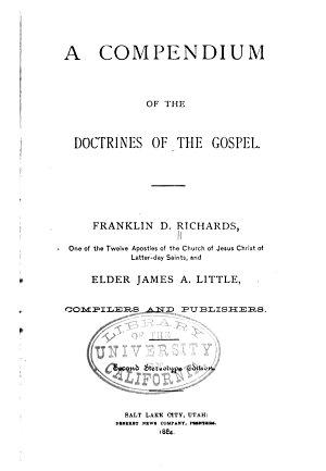 A Compendium of the Doctrines of the Gospel PDF