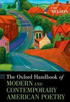 The Oxford Handbook of Modern and Contemporary American Poetry PDF