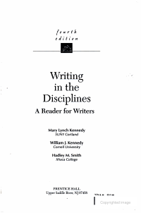 Writing in the Disciplines PDF