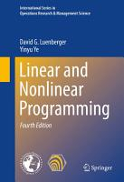 Linear and Nonlinear Programming PDF