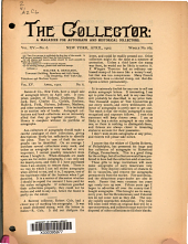 The Collector: A Monthly Magazine for Autograph and Historical Collectors, Volume 15, Issue 6