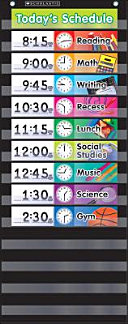 Daily Schedule   Black Pocket Chart