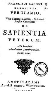 De sapientia veterum. -