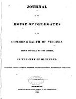 Journal of the House of Delegates of the Commonwealth of Virginia PDF