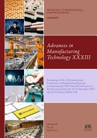 Advances in Manufacturing Technology XXXIII PDF