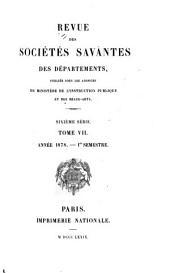 Revue des sociétés savantes des departements