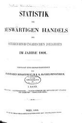 Statistik des Auswärtigen Handels des Österreichischungarischen Zollgebiets