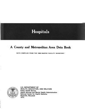 Hospitals  a County and Metropolitan Area Data Book PDF