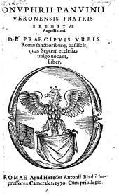 De praecipuis urbis Romae sanctioribusque basilicis, quas Septem ecclesias vulgo vocant, liber