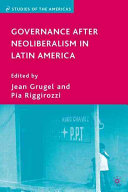 Governance After Neoliberalism in Latin America PDF