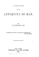 A Manual of the Antiquity of Man PDF