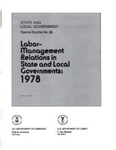 State and local government special studies: Issue 95