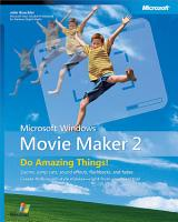 Microsoft   Windows   Movie Maker 2  Do Amazing Things PDF