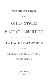 Annual Report of the Ohio State Board of Agriculture: Volume 35, Part 1880