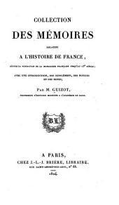 Collection des mémoires relatifs à l'histoire de France depuis la fondation de la monarchie française jusqu'au 13e siècle: Avec une introduction, des supplémens, des notices et des notes, Volume15