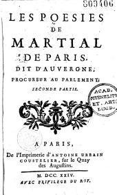 Les Poésies de Martial de Paris, dit d'Auvergne...