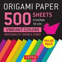 Origami Paper 500 Sheets Vibrant Colors 4  10 Cm