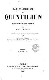 Oeuvres complètes de Quintilien, 1