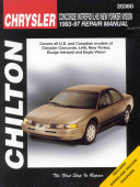 Chrysler Concorde, Intreped, LHS, New Yorker and Vision, 1993-97