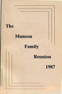 Download Proceedings of the Munson Family Reunion Book