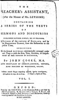 The Preacher s Assistant  after the Manner of Mr  Letsome  Containing a Series of the Texts of Sermons and Discourses     PDF