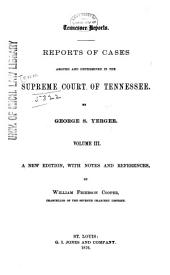 Reports of Cases Argued and Determined in the Supreme Court of Tennessee: Volume 11