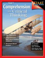 Comprehension and Critical Thinking Grade 2 PDF
