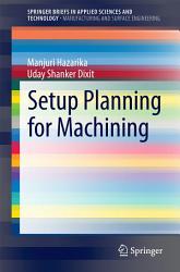Setup Planning For Machining Book PDF