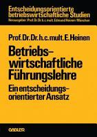 Betriebswirtschaftliche F  hrungslehre PDF