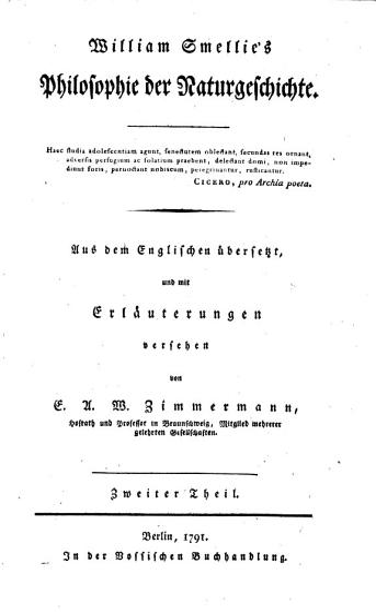 Philosophie der Naturgeschichte PDF