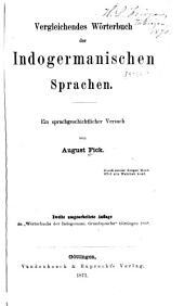 Vergleichendes wörterbuch der indogermanischen sprachen: Band 1