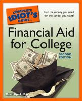 The Complete Idiot s Guide to Financial Aid for College  2nd Edition PDF