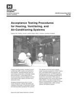 Acceptance Testing Procedures for Heating  Ventilating  and Air Conditioning Systems PDF