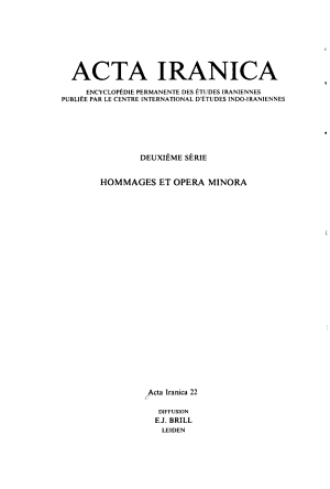 Monumentum Georg Morgenstierne, 1892-1978, Tome II. (Textes Et Memoires, Tome XI)