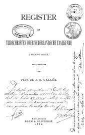Register op tijdschriften over Nederlandsche taalkunde